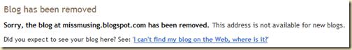 Blogger- Blog not found
