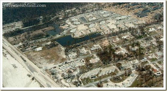MS shoreline after Katrina (our slab is in the middle!)