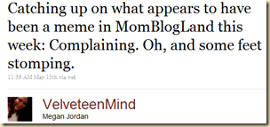 Twitter - Megan Jordan- Catching up on what appear