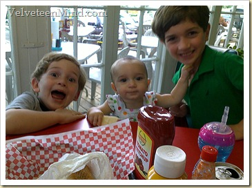 Kids at Jolly's Diner Fairhope