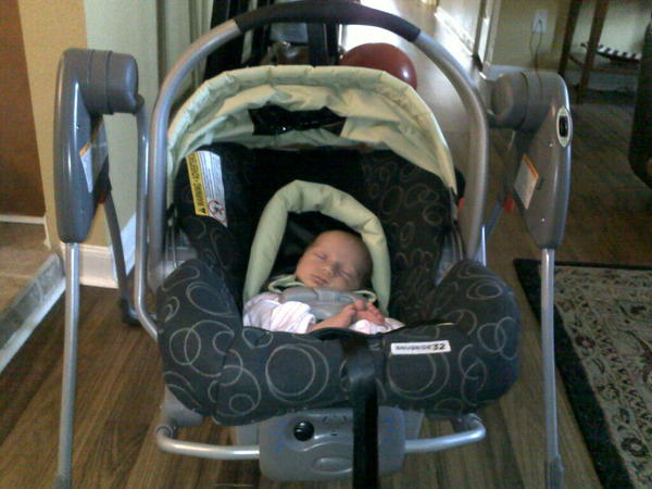 This @gracobaby SnugGlider car seat swing should be next to
