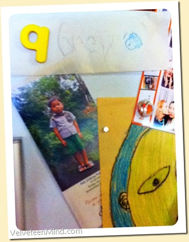 Hi from Indonesia! Aldo on our fridge.