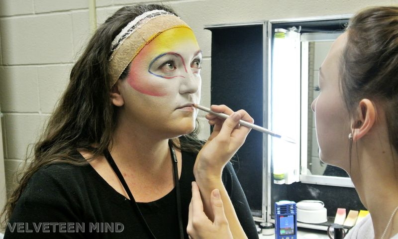 Varekai: Cirque du Soleil makeup tutorial, lips