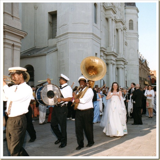 Our Second Line from St Louis Cathedral Jackson Square